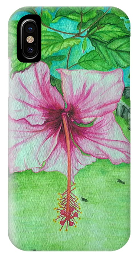 Landscape IPhone X Case featuring the painting Hawaiian Healing by Anna M Sullivan