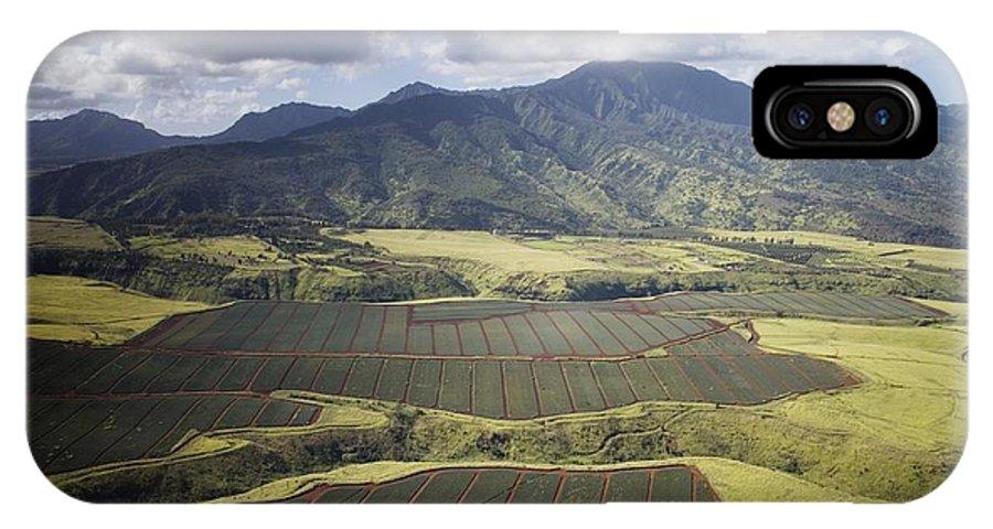 Carol Highsmith IPhone X Case featuring the digital art Hawaiian Pineapple Fields by Carol Highsmith