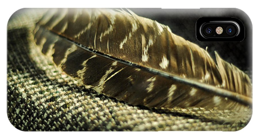 Hawk Feather IPhone X Case featuring the photograph Hawk Feather by Rebecca Sherman