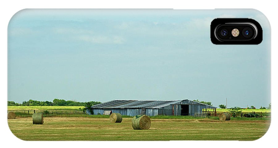 Rural IPhone X Case featuring the photograph Hay Barn by Robyn Stacey