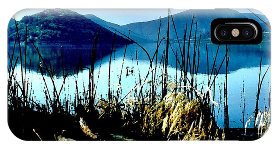 Lake Hodges IPhone X Case featuring the photograph He Leads Me Beside Still Waters by Sharon Tate Soberon