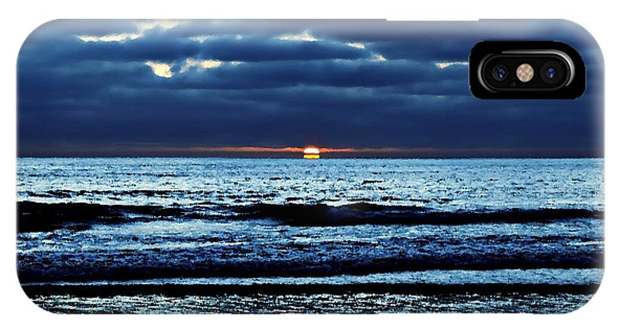 Ocean View IPhone X Case featuring the photograph He Shall Be Great To The Ends Of The Earth by Sharon Tate Soberon