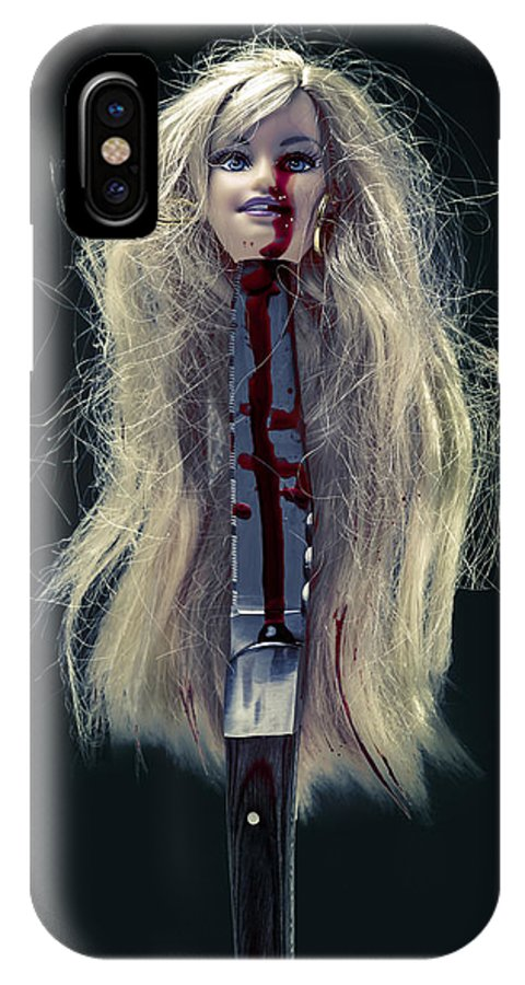 Head IPhone X Case featuring the photograph Head And Knife by Joana Kruse
