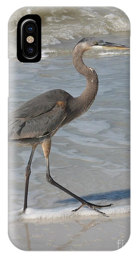 Heron IPhone X Case featuring the photograph Head For by Christiane Schulze Art And Photography