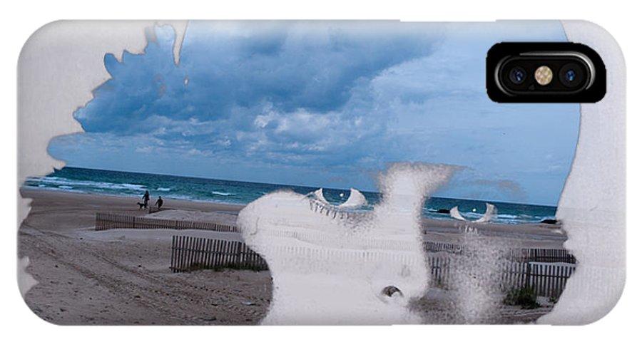 Ocean IPhone X Case featuring the digital art Full Of Ocean by Julia Luzia