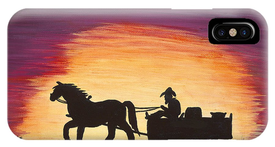 Day IPhone X Case featuring the painting Heading Home by Carol Verstoppen