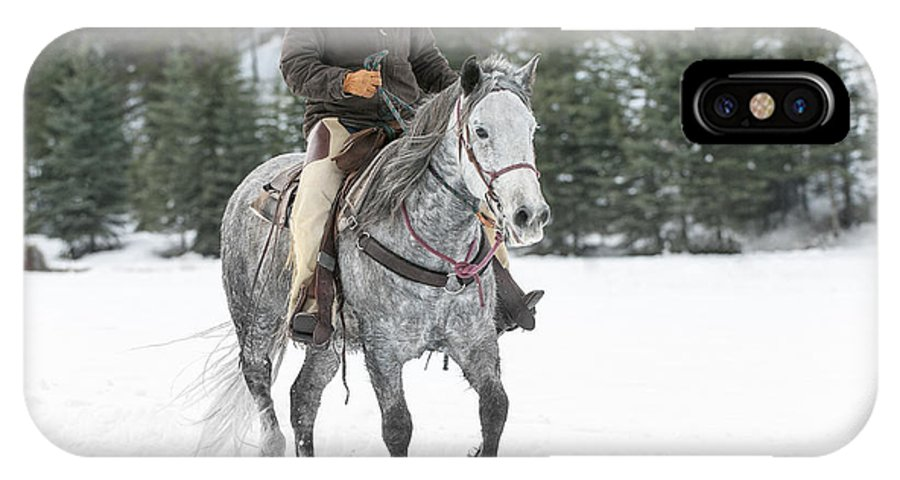 Montana IPhone X Case featuring the photograph Heading Out by Sandra Bronstein