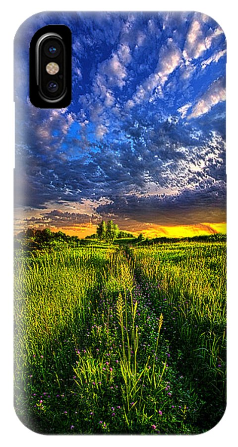 Road IPhone X Case featuring the photograph Heading Out To Somewhere by Phil Koch