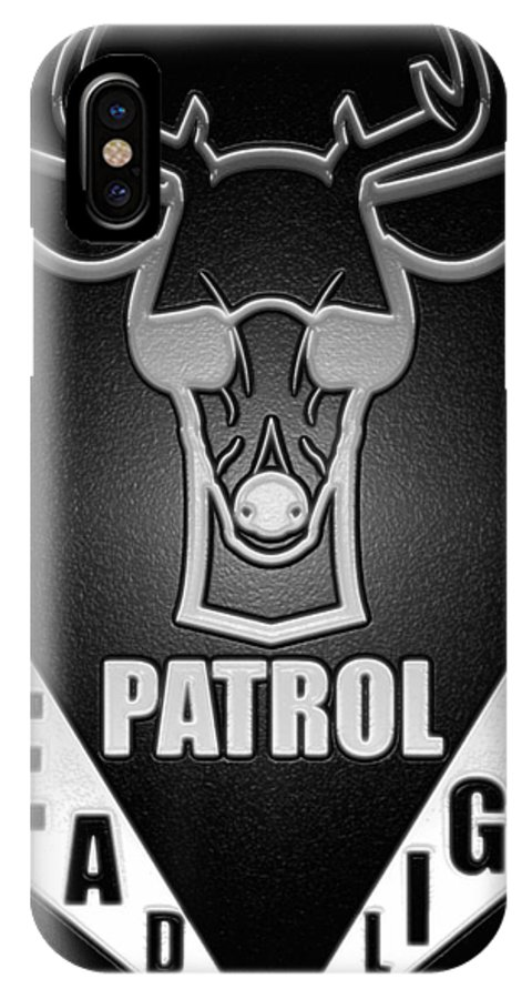 Jon Page IPhone X Case featuring the digital art Headlight Patrol by Jon Page