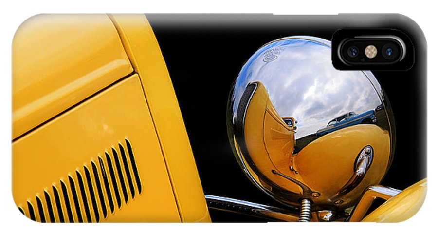 Ford IPhone X Case featuring the photograph Headlight Reflections In A 32 Ford Deuce Coupe by Gill Billington
