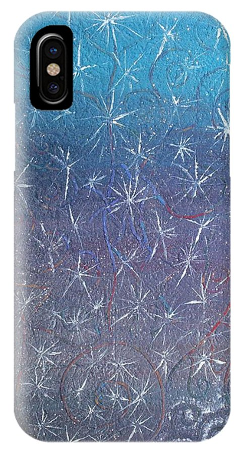 Spiritual IPhone X / XS Case featuring the painting Wealth Magnet by Joanna Pilatowicz