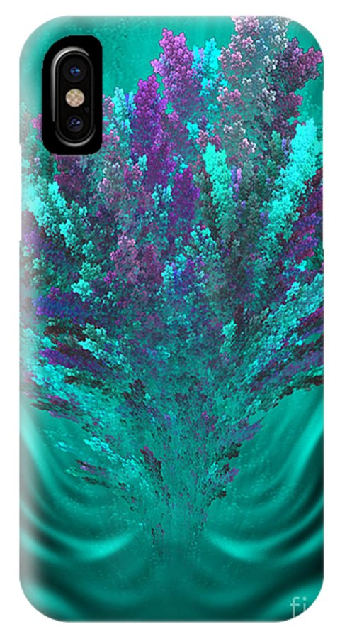 Healing Flowers IPhone X Case featuring the digital art Healing Flowers - Fantasy Floral Art By Giada Rossi by Giada Rossi