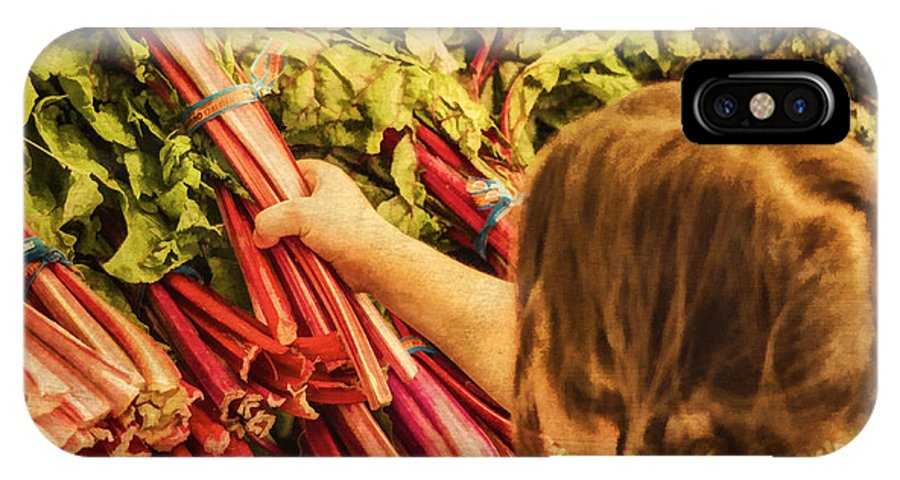 Rhubarb IPhone X Case featuring the photograph Healthy Choices by Priscilla Burgers
