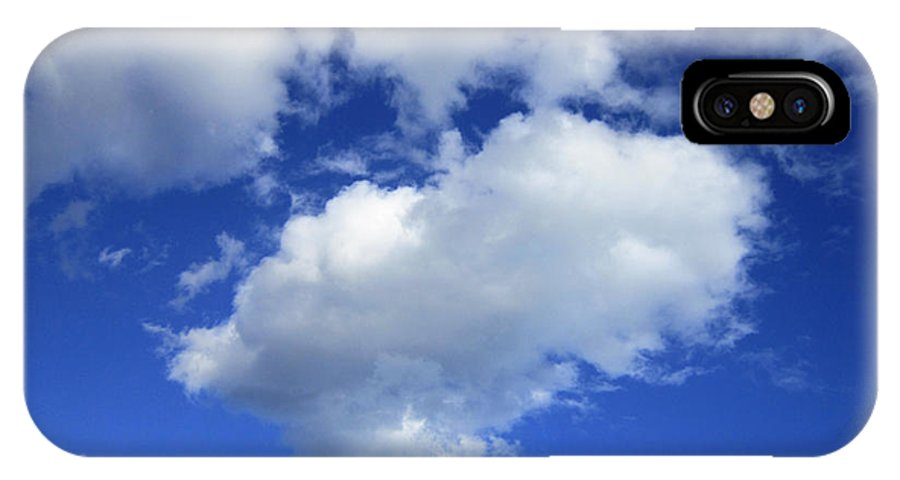 Cloud IPhone X Case featuring the photograph Heart Cloud 4-14-12 by Steve Fields
