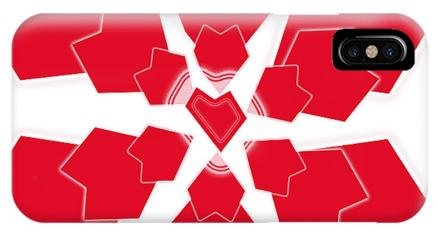Heart IPhone X Case featuring the digital art Heart Flower 1 by Kristy Jeppson