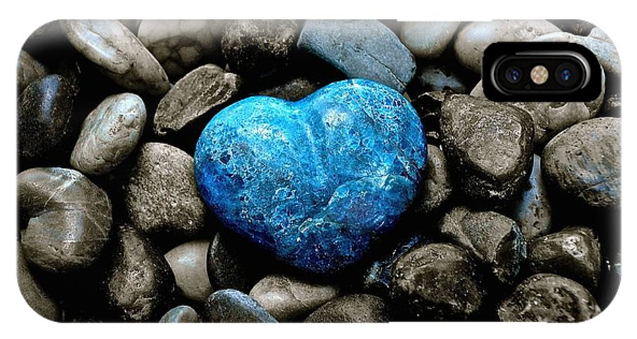 Heart IPhone X Case featuring the photograph Heart Of Stone 2 by Lisa Telquist