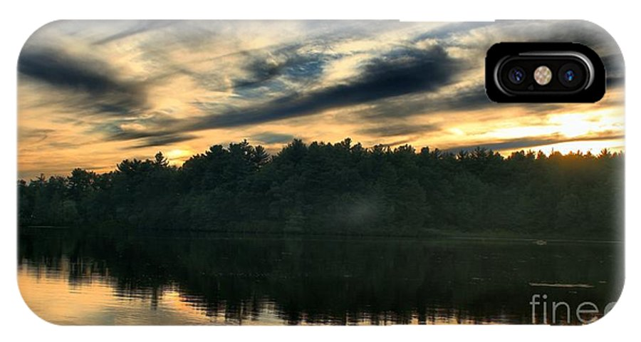 Sunset IPhone X Case featuring the photograph Heart Pond Sunset by Kenny Glotfelty