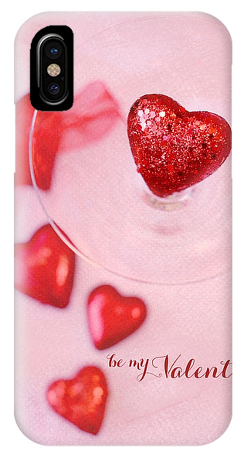Hearts IPhone X Case featuring the photograph Hearts In Glass - Be My Valentine by Rebecca Cozart