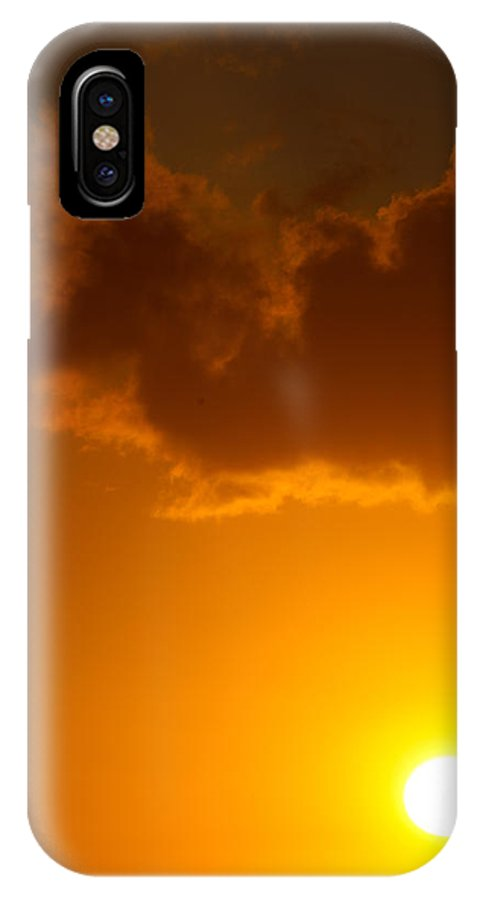 Sun IPhone X Case featuring the photograph Heat by Jared Shomo
