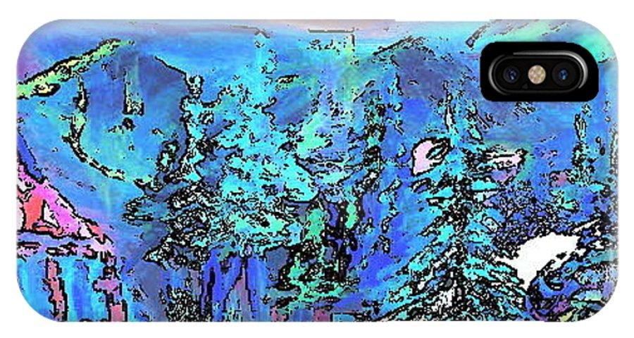 Deborah Montana IPhone X Case featuring the painting Heaven At Noon by Deborah Montana