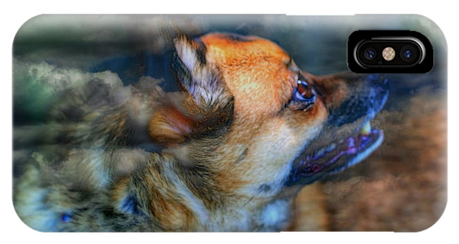Clouds IPhone X Case featuring the photograph Heaven Bound by Larry Trupp