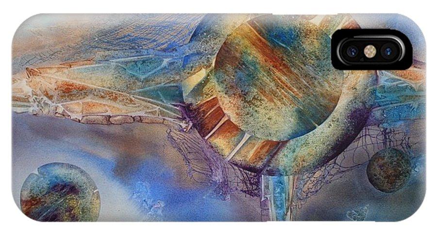 Spiritual IPhone X Case featuring the painting Heavens Gate by Tara Moorman