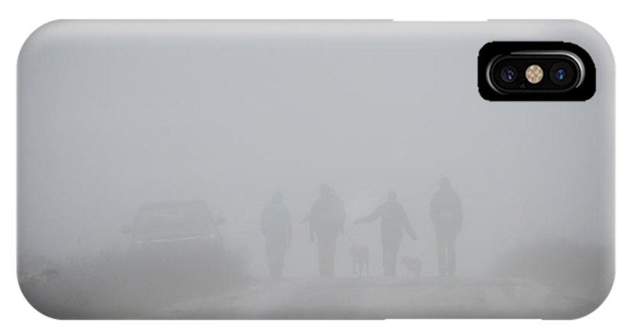 Fog IPhone X Case featuring the photograph Heavy Fog On Top Of Mountain by Dan Friend