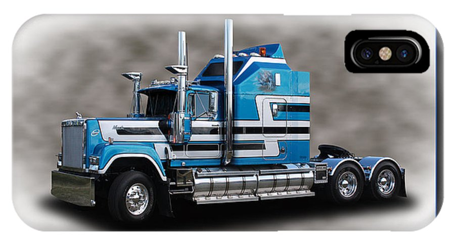 Truck IPhone X Case featuring the photograph Heavy Haulage Mack by Keith Hawley
