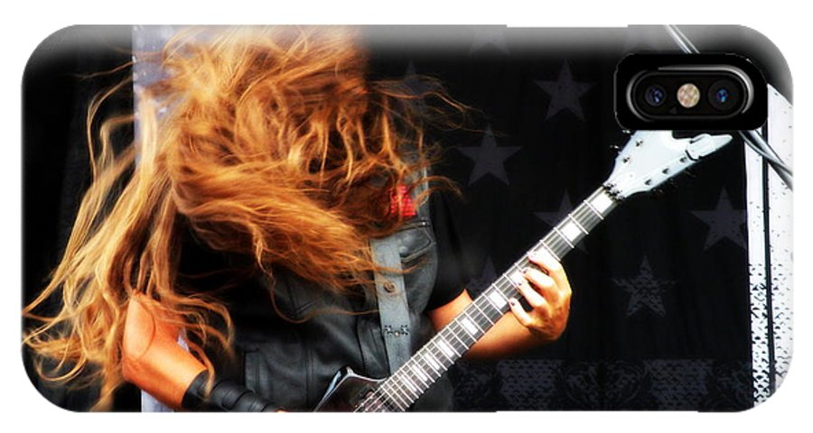 Guitar IPhone X Case featuring the photograph Heavy Metal by Joseph C Santos