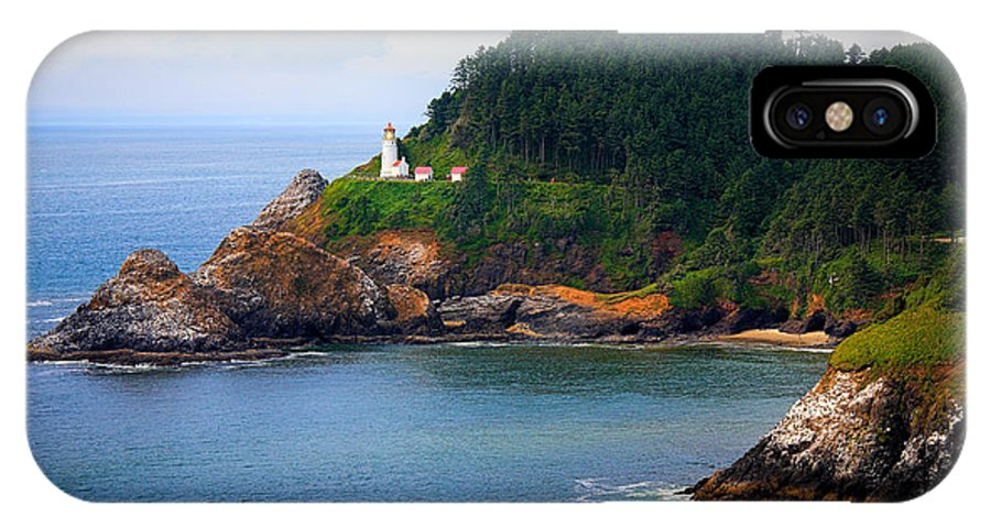America IPhone X Case featuring the photograph Heceta Head by Inge Johnsson