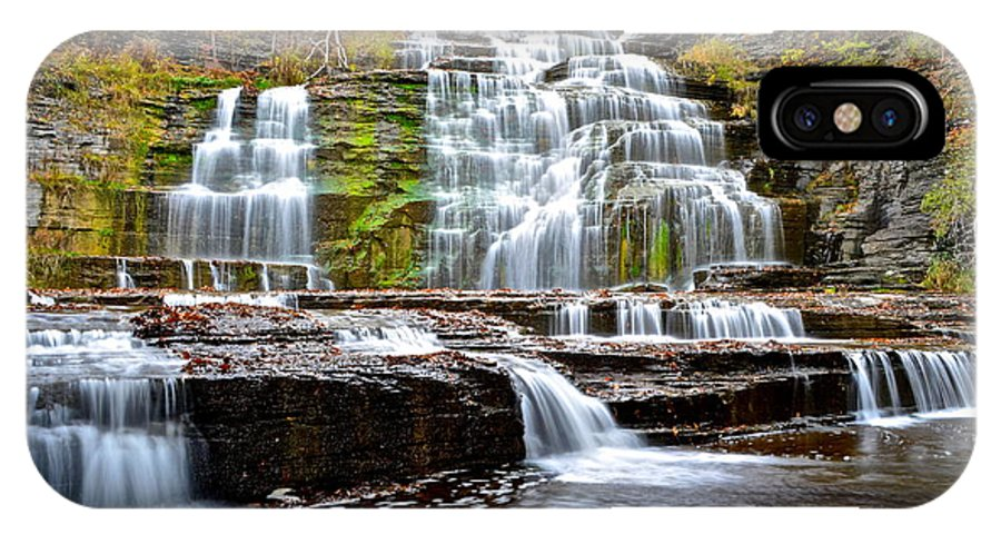 Hector IPhone X Case featuring the photograph Hector Falls by Frozen in Time Fine Art Photography