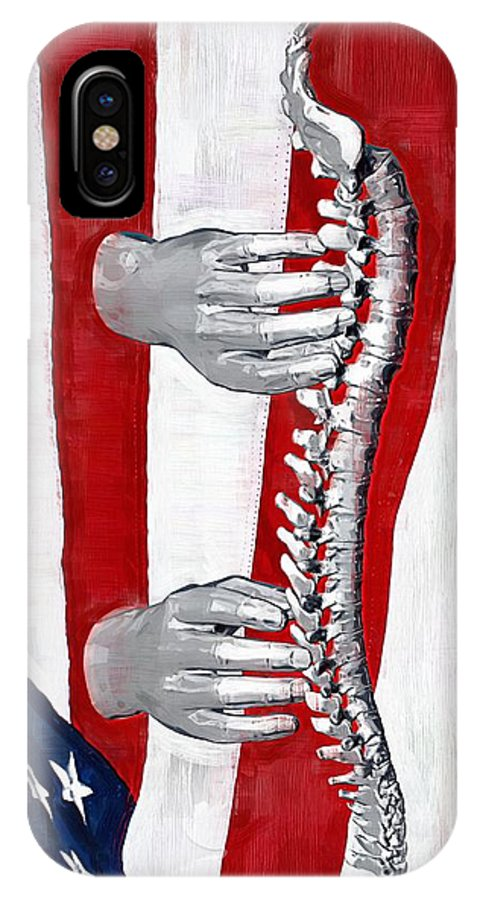 Chiropractor IPhone X Case featuring the digital art Heealing Touch by Joseph Ventura