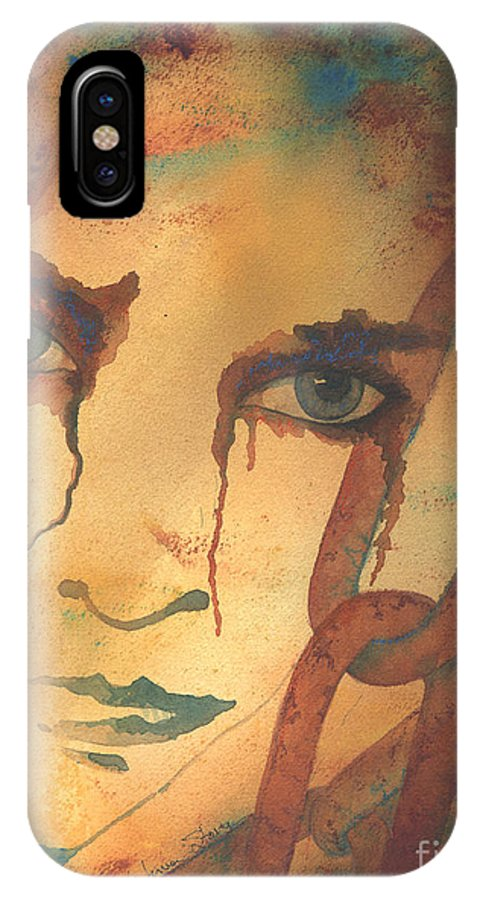 Captive IPhone X Case featuring the painting Held Captive by Kristina Storey