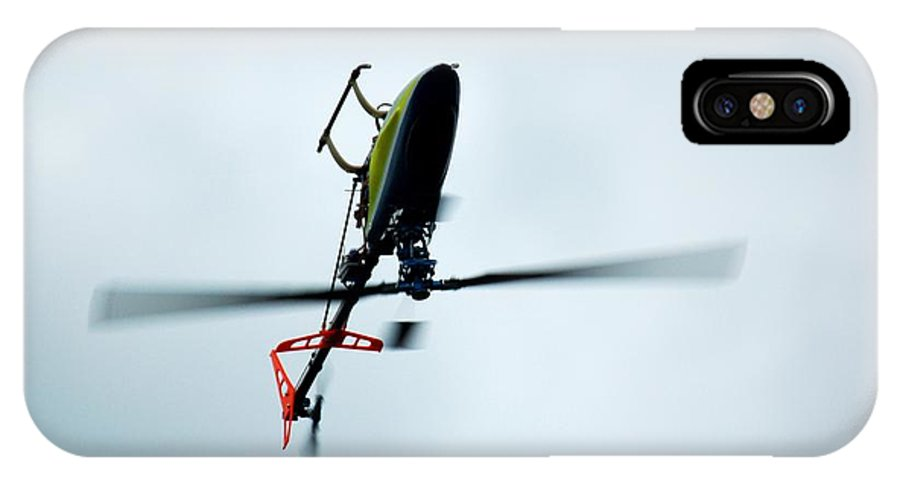 Rc IPhone X Case featuring the photograph Helicopter 4 by Louise Kent