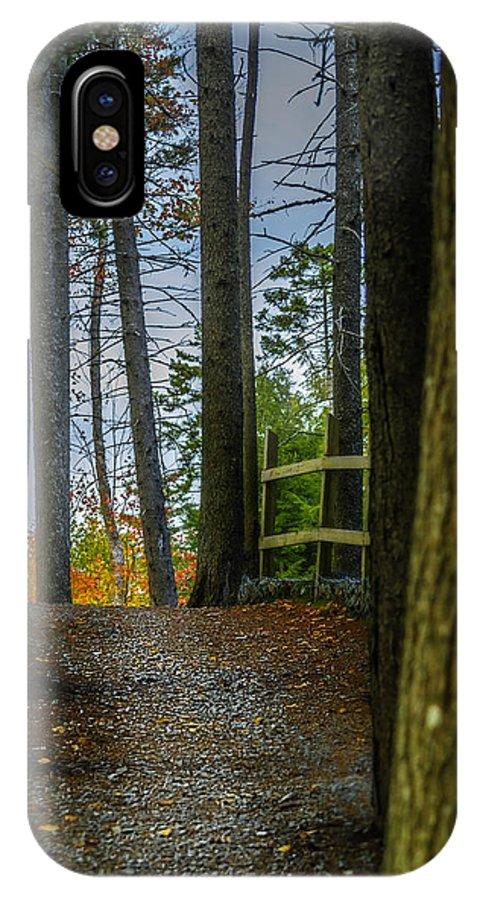 2014 IPhone X / XS Case featuring the photograph Hemlock Ravine Park by Ken Morris