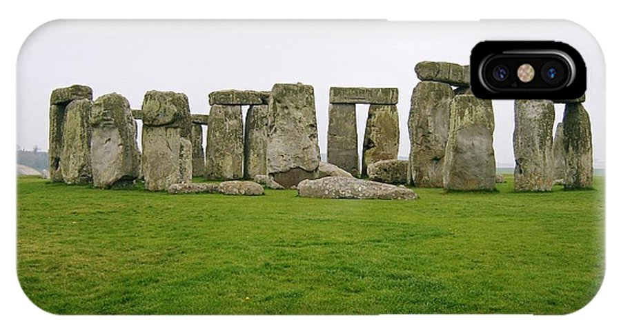 Stone Henge Circle Of Stones IPhone X Case featuring the photograph Henge by John Rylatt