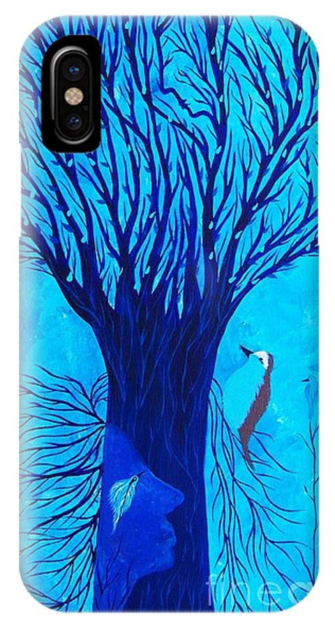Tree Of Life Art Print IPhone X / XS Case featuring the painting Her Tree Of Life by Jean Fry