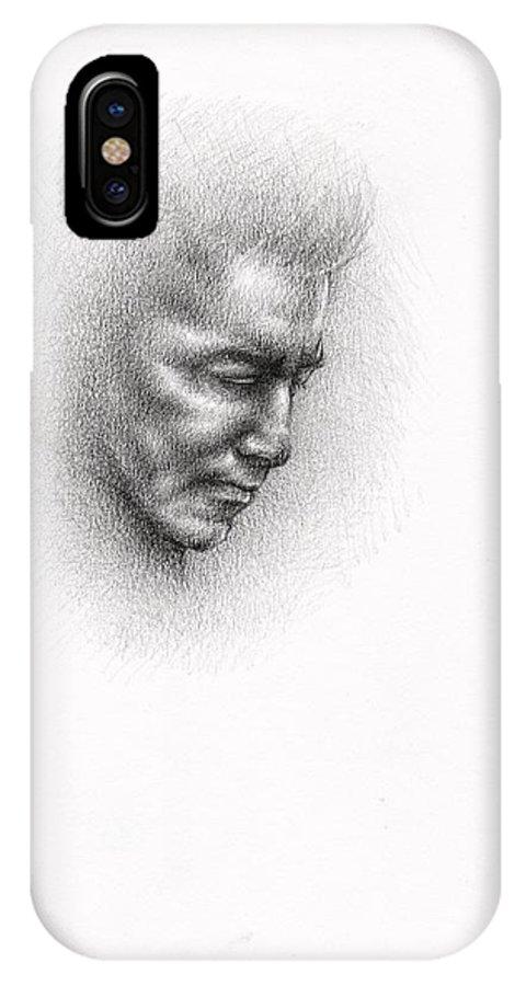 Herbert Von Karayan IPhone X / XS Case featuring the drawing Herbert Von Karayan by Esther Rosier