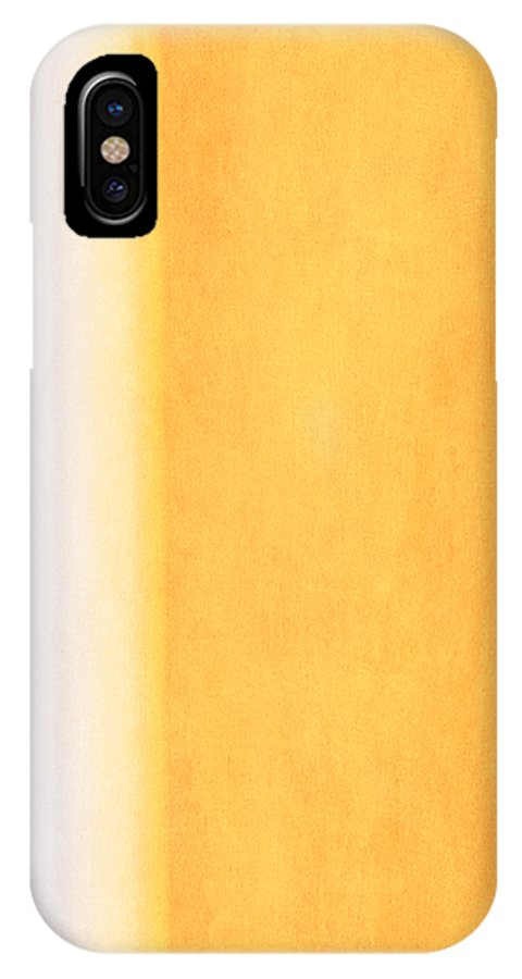 Abstract IPhone X Case featuring the mixed media Here Comes The Sun Triptych 3 by Angelina Vick