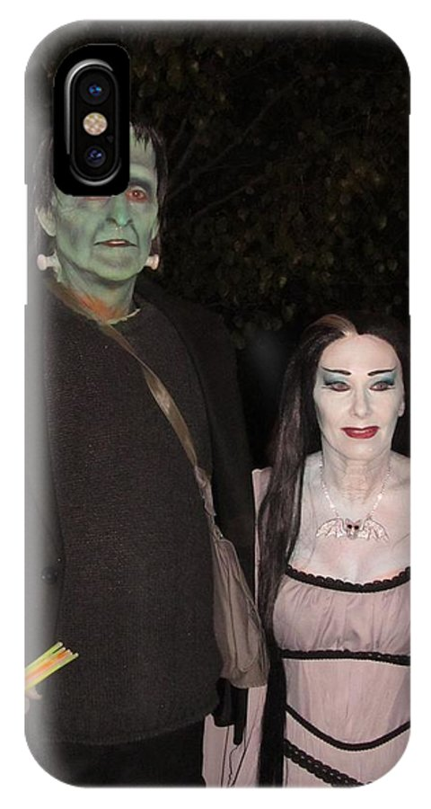 The Munsters IPhone X Case featuring the photograph Herman And Lilly Munster by Donna Wilson