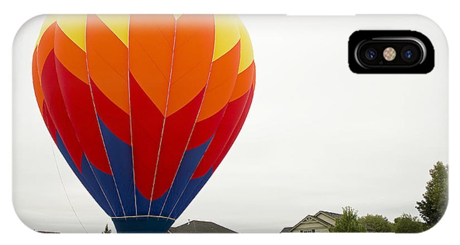 Pacific IPhone X Case featuring the photograph Hey Mom There Is A Big Balloon In Our Driveway by Nick Boren
