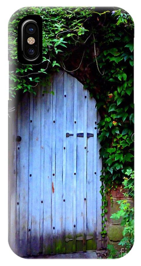 Door IPhone X Case featuring the photograph Hidden Doorway by Charmiene Maxwell-Batten