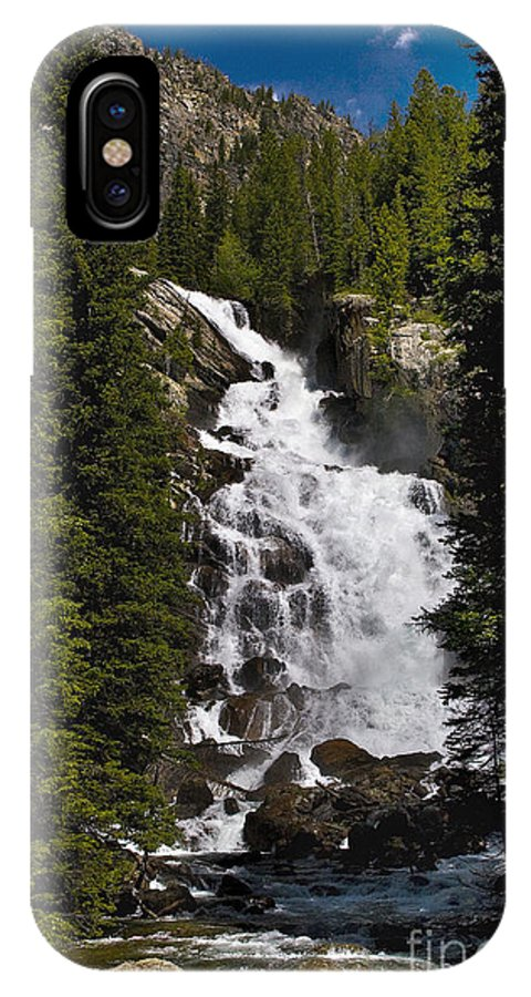 Jackson Hole IPhone X Case featuring the photograph Hidden Falls Jenny Lake by Timothy Hacker