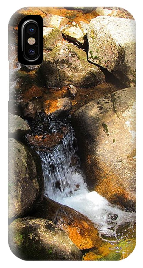Water IPhone X Case featuring the photograph Hidden Waterfall by Elizabeth Dow