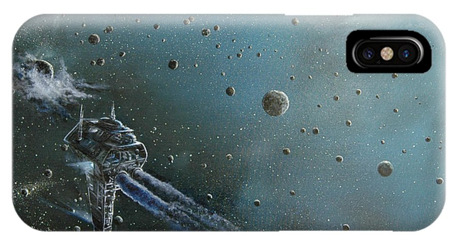 Astro IPhone Case featuring the painting Hiding In The Field by Murphy Elliott