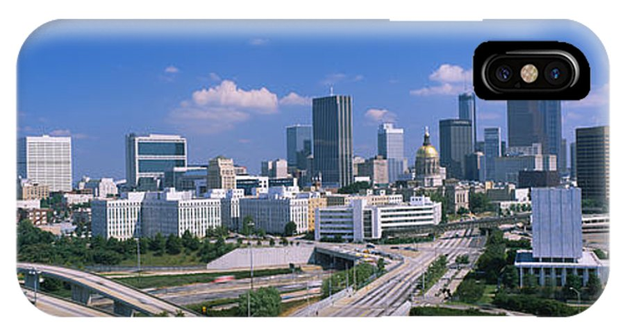 Photography IPhone X Case featuring the photograph High Angle View Of Elevated Roads by Panoramic Images