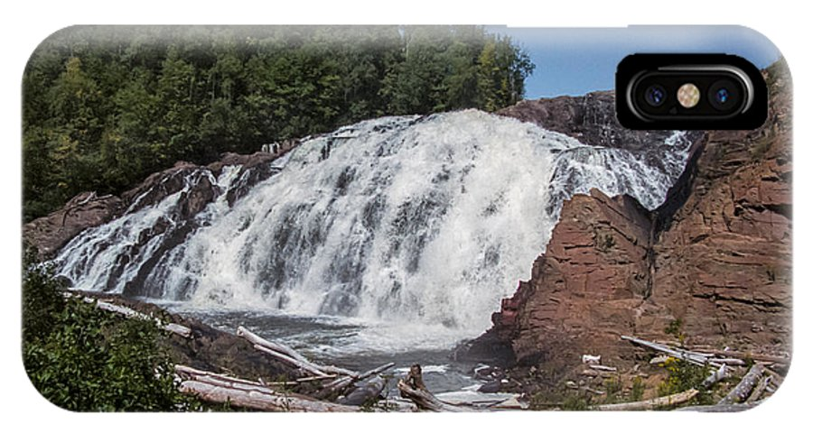 High IPhone X Case featuring the photograph High Falls by Richard Kitchen