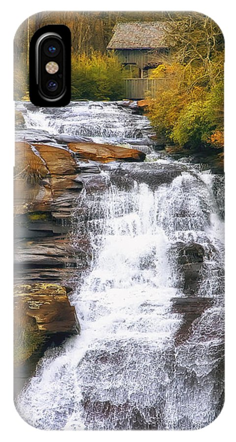 Water IPhone X Case featuring the photograph High Falls by Scott Norris