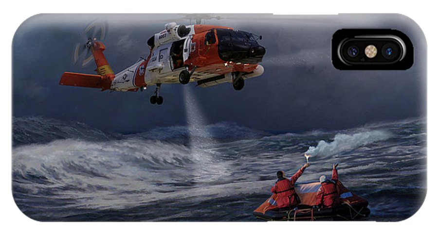 Aviation IPhone X Case featuring the painting High Magnitude Of Bravery by Mark Karvon