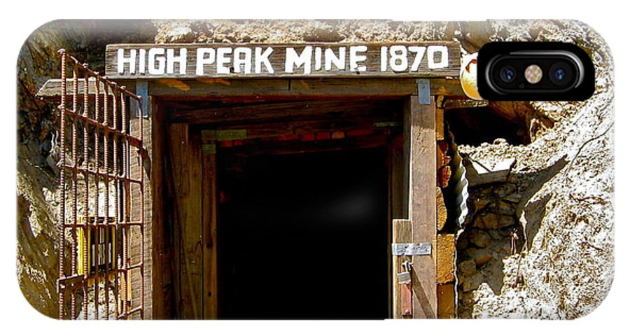 High Peak Mine IPhone X Case featuring the photograph High Peak Mine by Denise Mazzocco